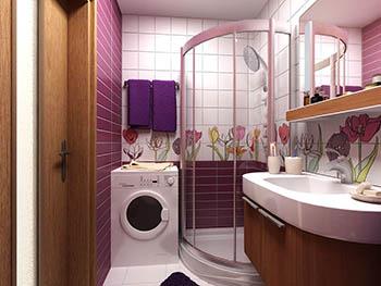 Как обустроить маленькую ванную?